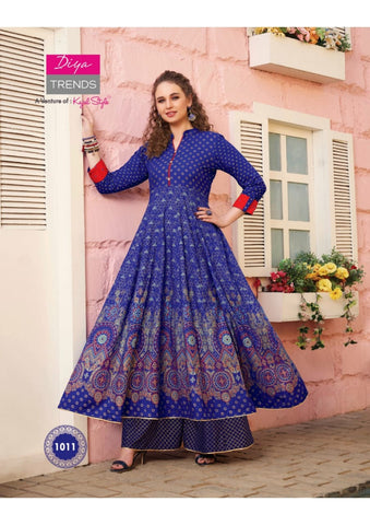 DIYA TRENDS FLORENCE VOL 1 KURTI COLLECTION WITH SHARARA SKIRT PLAZO