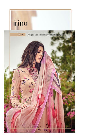 GLOSSY PRESENTS THE PETALS AND KNOTS PURE BEMBERG CHIFFON SUITS