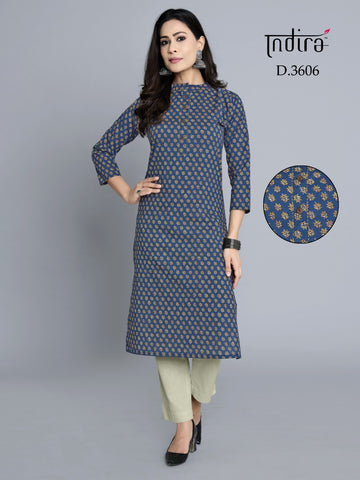 Indira Rozana Vol 3 Casual Cotton Designer Kurties Collection