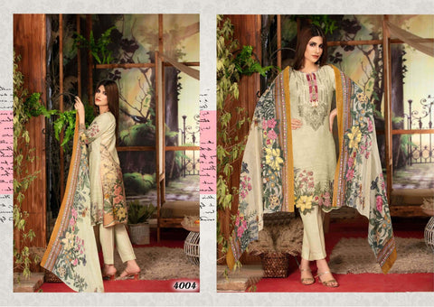 Iris Vol 4 Karachi Cotton Casual Wear Pakistani Salwar Kameez