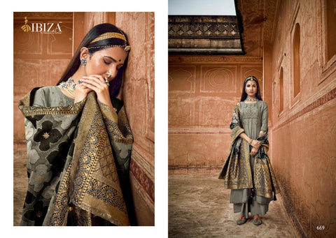 Ibiza Presents Shahzadi Pure Muslin Fancy Embroidery Work Fancy Designer Salwar Kameez