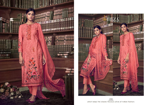 Ibiza Presents Elise Vol 2 Muslin Embroidered Pakistani Salwar Suit