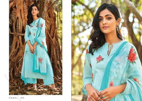 Itrana Pearl Pure Cotton Digital Embroiderey Printed Collection Suit