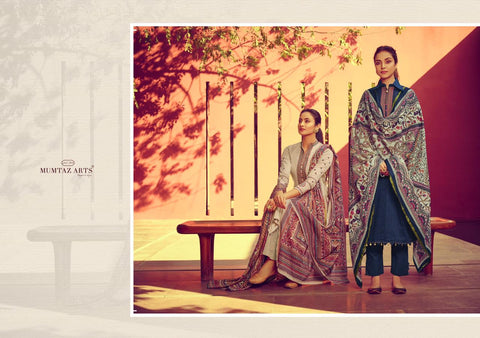MUMTAZ ARTS PRESENTS JAMDANI EMBROIDERED KARACHI SUITS COLLECTION