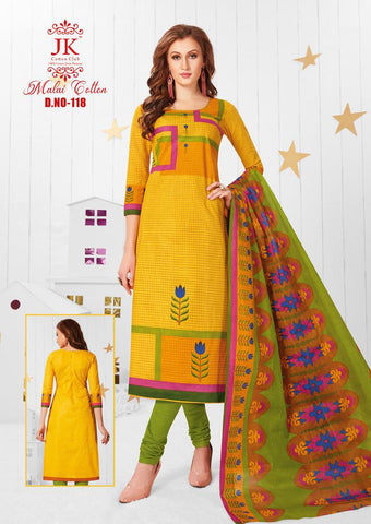 JK COTTON CLUB MALAI COTTON HEAVY LAWN COTTON DRESS MATERIAL