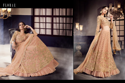 Jinaam's Floral Zoha Stylish Attractive Wedding Lehanga Collection