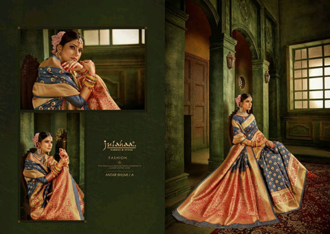 Julahaa Sarees Antar Bhumi Silk Fancy Designer Saree Collection