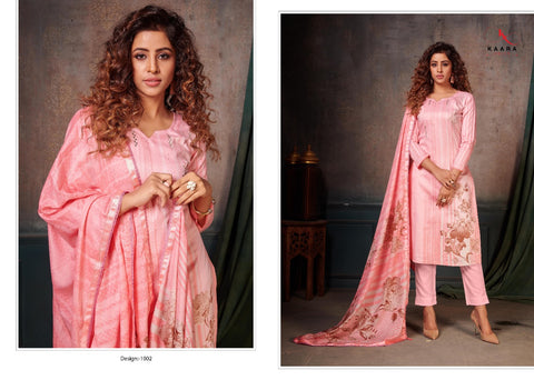 KAARA SUITS PRESENTS GHUNGHAT PURE COTTON DRESS MATERIAL