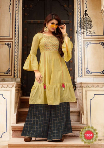 KAJAL STYLE FASHION HOLIC VOL 1 CELEBRITY DESIGNER KURTI COLLECTION