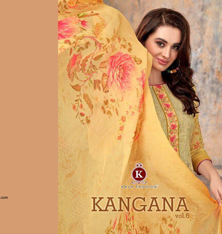 Kala Fashion Presents Kangana Vol 6 Georgette Printed With Embroidery Work Fancy Designer Salwar Kameez