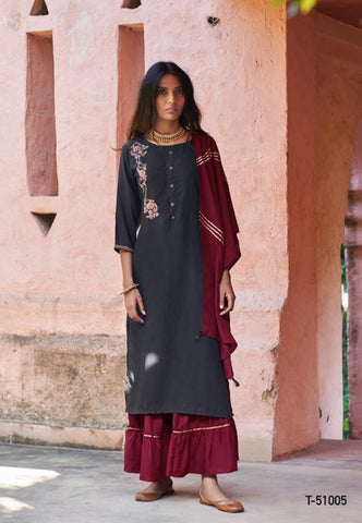Kalki Fashion Presents Mirrow Pluse Pure Musline Casual Wear Salwar Kameez