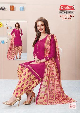 Keshar Anushka Patiyala Vol 4 Cotton Designer Casual Wear Salwar Kameez