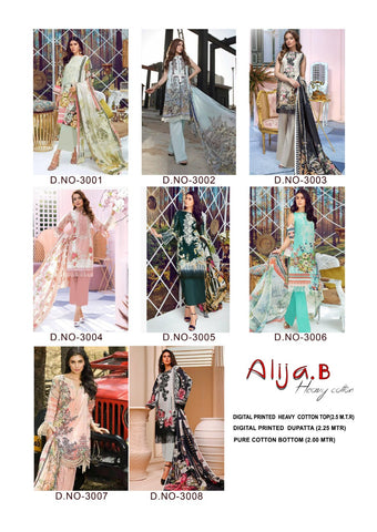 Keval Fab Alija B Cotton Designer Casual Wear Pakistani Suits Collection