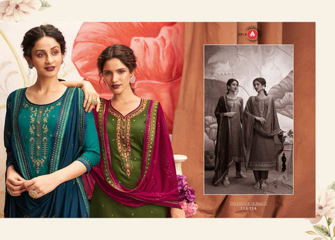 Triple A Presents Khanak Jam Silk Embroidery Work Salwar Kameez