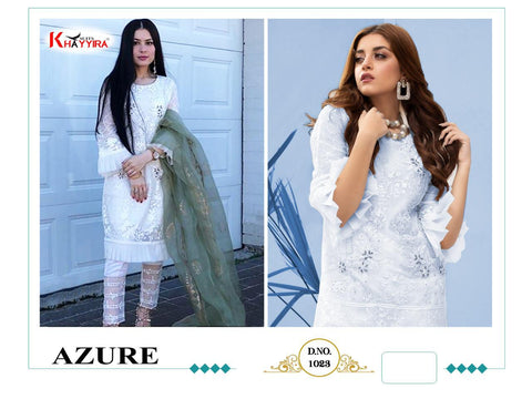 Khayyira Azure Heavy Viscose Cotton Fancy Designer Salwar Suit