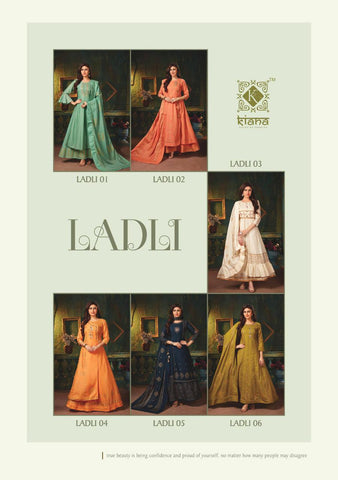 KIANA HOUSE OF FASHION LAADLI KURTI WITH DUPATTA HEAVY WORK