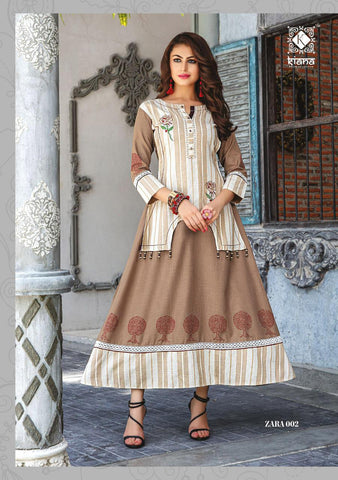 KIANA HOUSE OF FASHION ZARA COTTON RAYON HEAVY GOWN KURTI