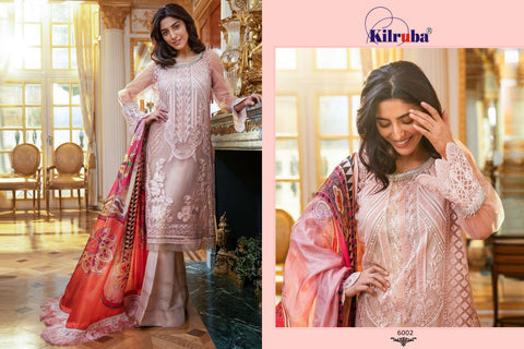 KIRUBA JANNAT COLLECTION SOFT NET FABRIC WITH HEAVY WORK SUIT