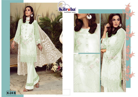 Kilruba Partywear Collection Heavy Georgtte Fancy Designer Salwar Kameez