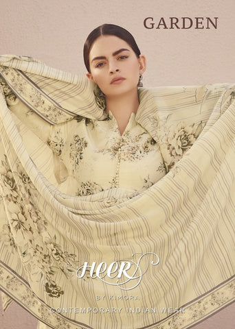 KIMORA HEER VOL 66 GARDEN DOLA SILK SUIT WITH CHICKEN KARI WORK