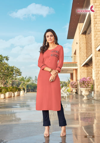 KOODEE PRESENTS INSTAGIRL VOL 5 KURTI COLLECTION WITH POTLI PANT