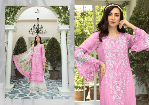 COTTON EMBROIDERY PAKISTANI SUITS KAARA MARIA B LAWN EID COLLECTION COLOUR