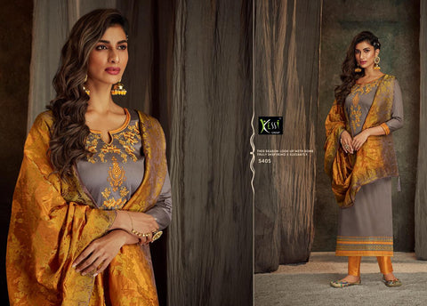 Kessi Fabrics Asopalav Vol 13 Embroidred Jam Silk Work Suit In Wholesale