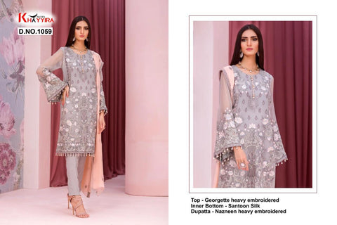 Khayyira Suit Launched Kuch Khas Embroidery Work Georgette Pakistani Salwar Suits