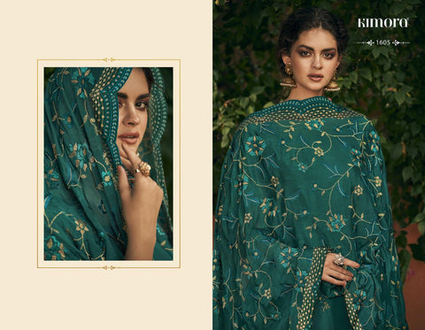 Kimora Fashion Morpankh Vol 16 Silk Designer Ethnic Collection