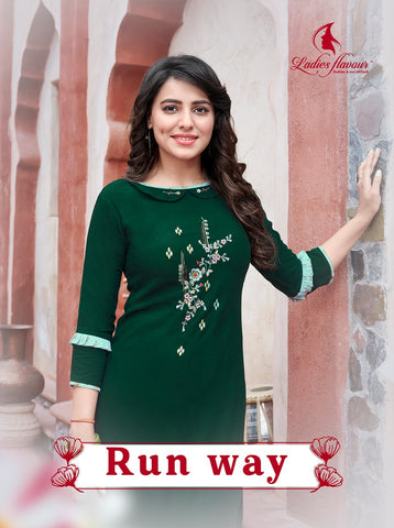 Ladies Flavour Presents Runway Rayon Designer Kurties Collection