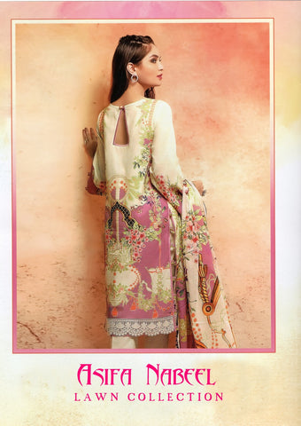 Lawn Collection Asifa Nabeel Heavy Cotton Printed Fancy Designer Salwar Kameez