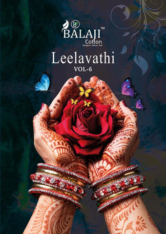 BALAJI COTTON LEELAVATHI VOL.6 PRINTED DAILYWEAR COTTON SAREES
