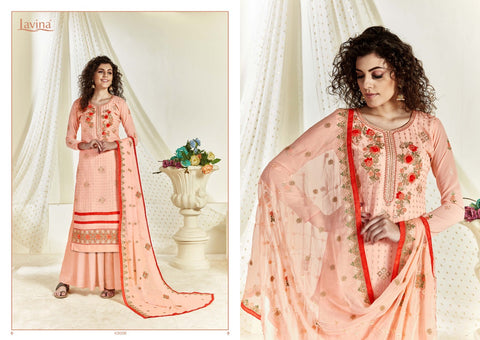 LAVINA LAUNCHES LAVINA VOL 43 GEORGETTE EMBROIDERY HEAVY SALWAR SUIT