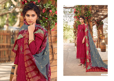 Levisha Presents Reenaz Satin Cotton Embroidered Singles Suit Collection