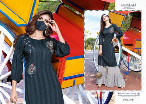 Lily and Lali Mystery Pakistani Designer Casual Kurties Collection