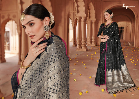SAREE ONLINE SHOPPING AT BEST RATELT FASHION LAUNCH BRAHMI SOFT SILK CHECKS PATTERN