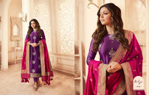 Lt Nitya Vol 157 Silk Jacquard Designer Party Wear Salwar Kameez