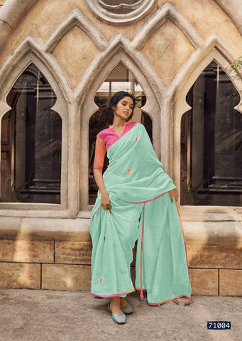 Lt Fabrics Presents Dhara Linen Silk Party Wear Saree Collection