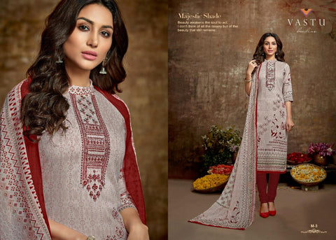 Vastu Tex Malhar Satin Cotton Casual Wear Salwar Suit Collections