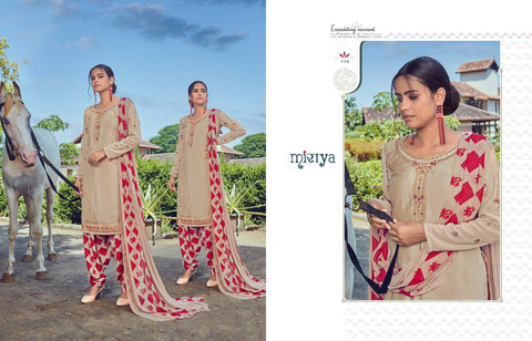 Mirayaa Presents Miraya Vol 18 Crape Printed Embroidery Work Fancy Designer Salwar Suits