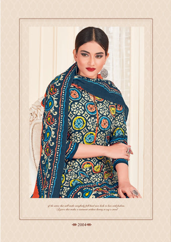 Mishri Creation Presents Batik Special Vol 2 Pure Cotton Patiyala Type Casual Wear Salwar Suits