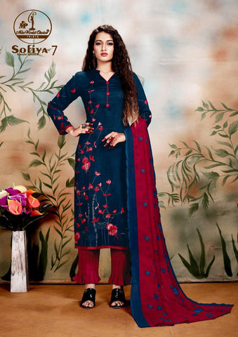Miss World Prints Sofiya Pure Cotton Fancy Designer Salwar Suit