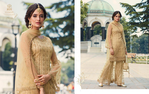 MOHINI GLAMOUR VOL 79 3 PIECE SHARARA GARARA SUIT HEAVY NET WITH LACE