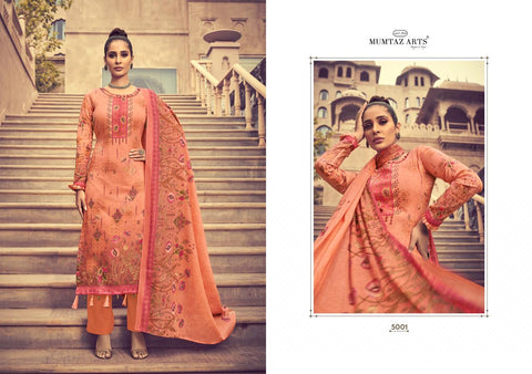 MUMTAZ ARTS GULBAGH ORIGINAL JAM SATIN DIGITAL PRINT SUIT