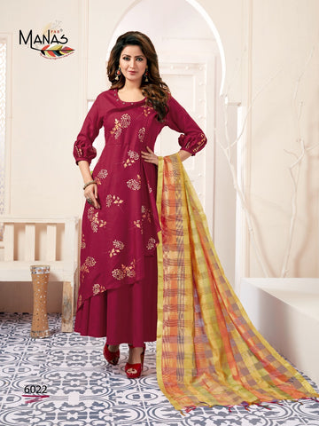 Manas Kiara Vol 3 Banarasi Kurti With Dupatta Gown In Best Price