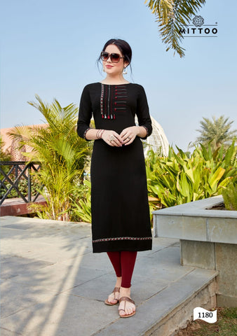 Mittoo Palak Vol 20 Stylish Rayon Designer Kurti Collection