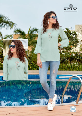 Mittoo Poorva Vol 8 Viscose Daily Wear Top Kurti Collection