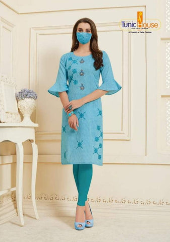 Tunic House Nafisa Cotton Linen Casual Wear Kurti Collection