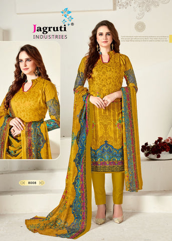 Jagruti Industries Present Nargish Vol 8 Cotton Casual Wear Salwar Suits