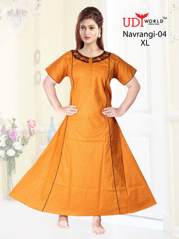 Navrangi Presents Cotton Fabric Gown Collection